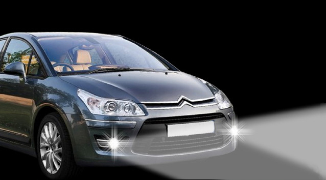 Led Daytime Running Lights And Fog Lights Citroen C4 Coupe